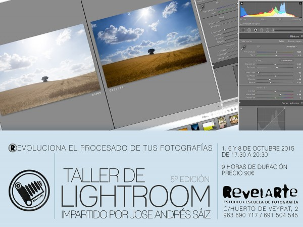 Cartel Lightroom Revelarte 5Edicion